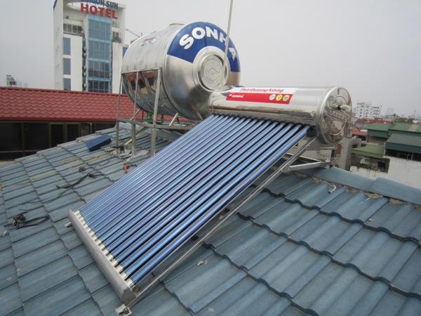 lắp đặt thái dương năng trên mái ngói, mái tôn